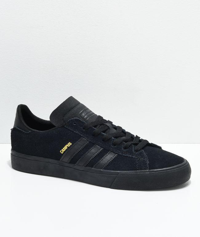 Acumulativo Leve ajuste  adidas Campus Vulc II All Black Shoes | Zumiez