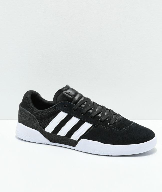 adidas City Cup White \u0026 Black Shoes