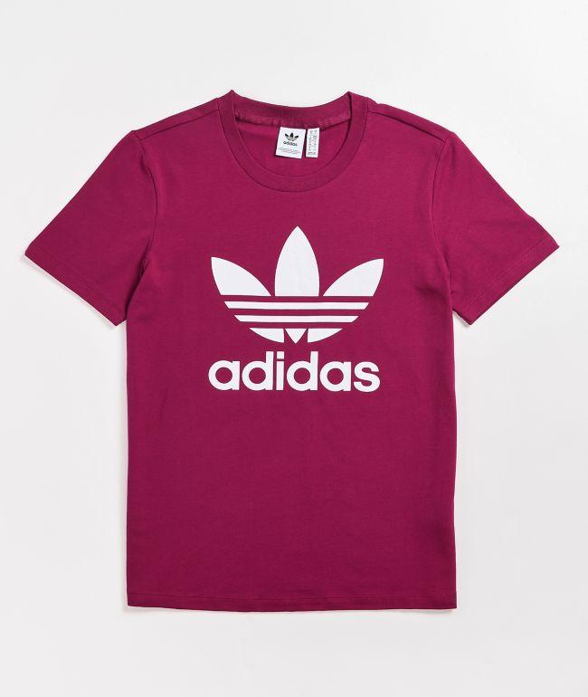 adidas Classic Trefoil Berry T-Shirt