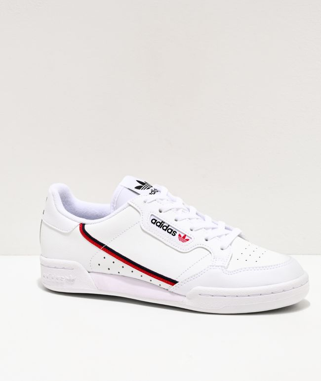 realidad Incitar alquiler  adidas Continental 80 J White, Red & Navy Shoes | Zumiez