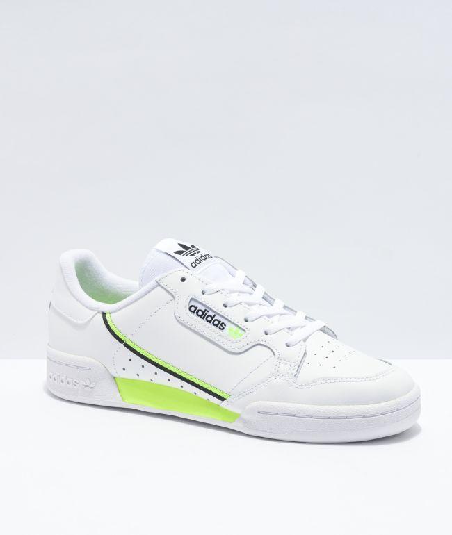 Sucio Gladys Biblia  adidas Continental 80 zapatos blancos y verdes | Zumiez