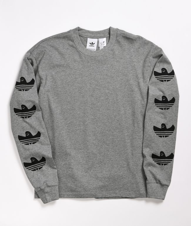 adidas G Shmoo Grey Long Sleeve T-Shirt