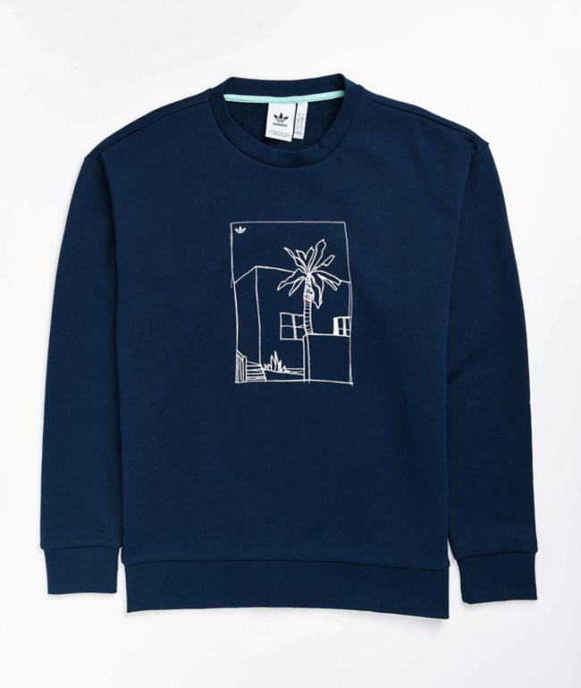 adidas Graphic Navy Crew Neck Sweatshirt