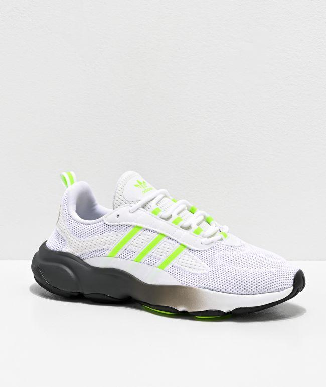 adidas Haiwee White, Neon Green \u0026 Grey