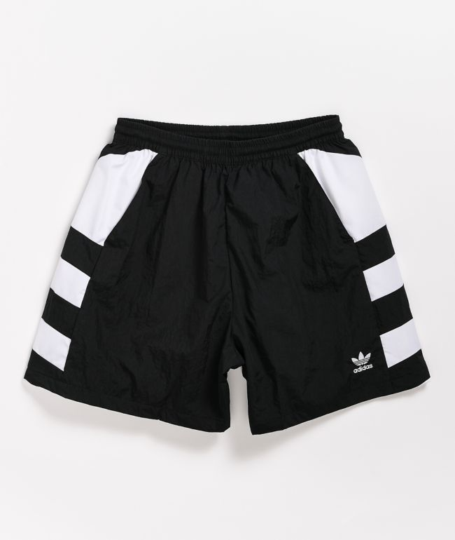 adidas Large Trefoil Black Elastic Waist Shorts