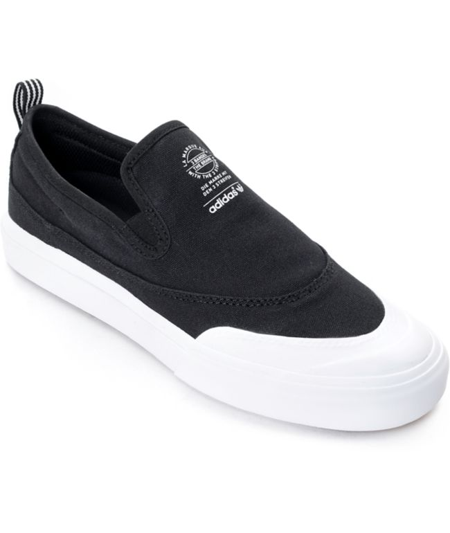 adidas Matchcourt Black \u0026 White Slip On