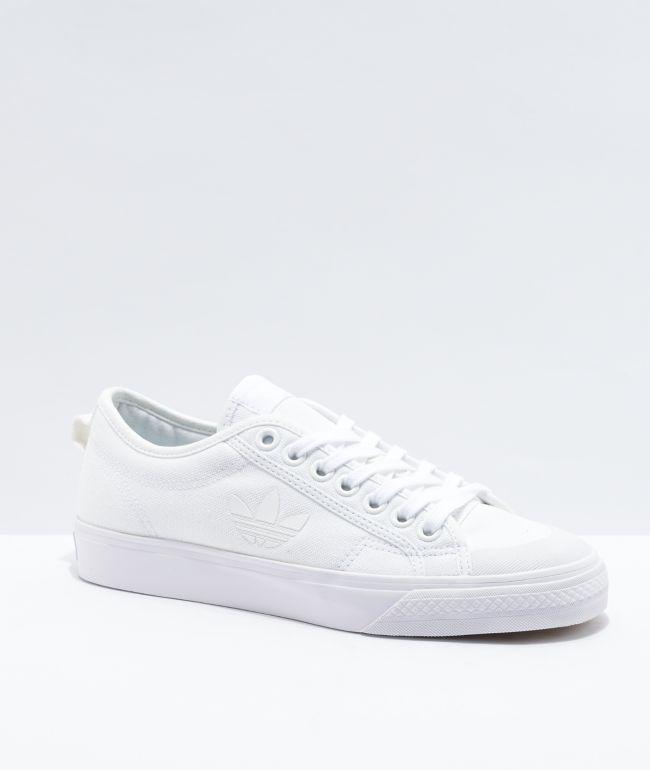 adidas Nizza Trefoil White Shoes | Zumiez