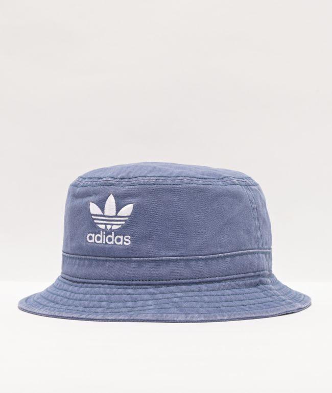adidas Originals Blue Washed Bucket Hat