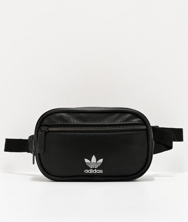 adidas Originals Faux Leather Black Fanny Pack