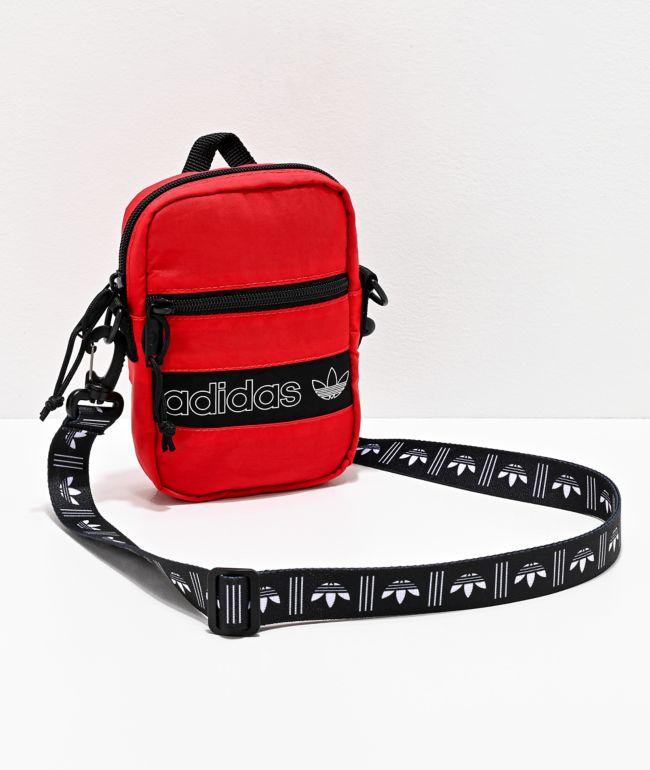 cáncer sí mismo Armonía  adidas Originals Festival bolso de hombro rojo y negro | Zumiez