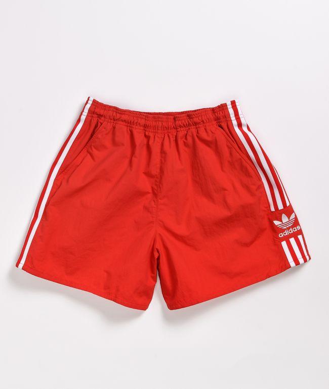 adidas Originals Red Stripe Elastic Waist Shorts