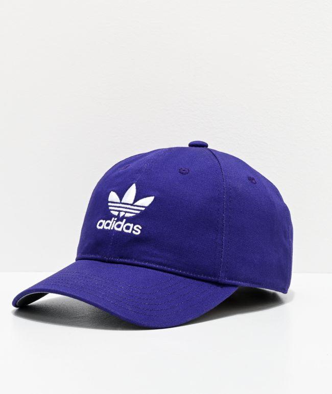 adidas Originals Relaxed College Purple Strapback Hat