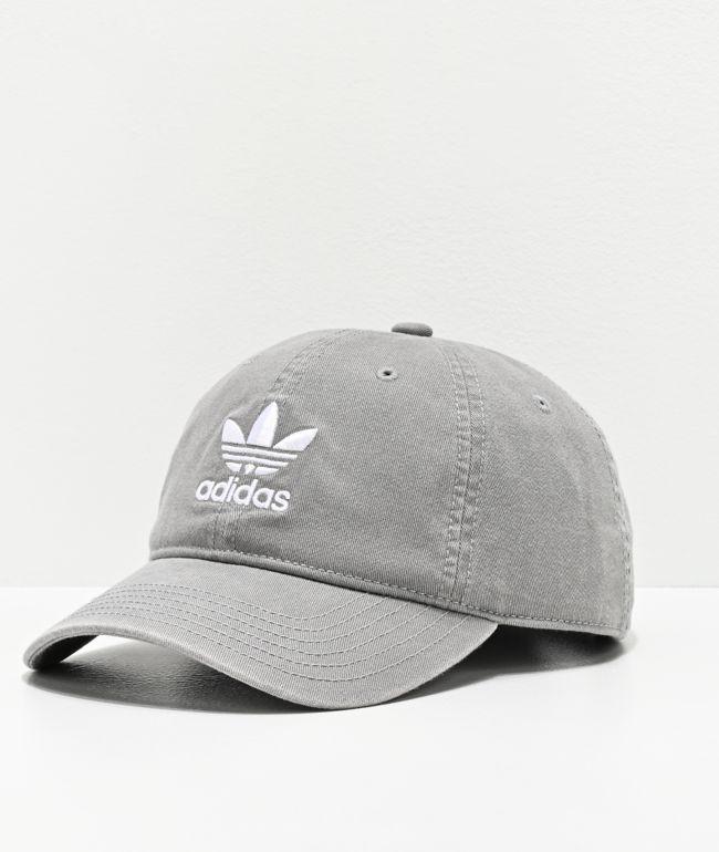 adidas Originals Relaxed Light Grey Strapback Hat