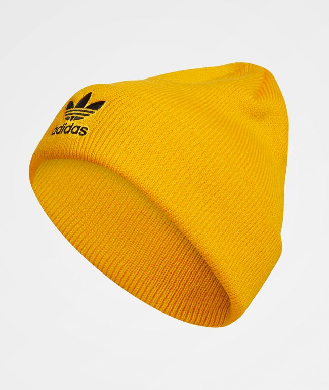 adidas Originals Trefoil Yellow & Black Beanie