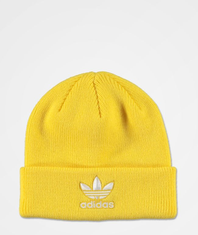 adidas Originals Trefoil Yellow & White Beanie