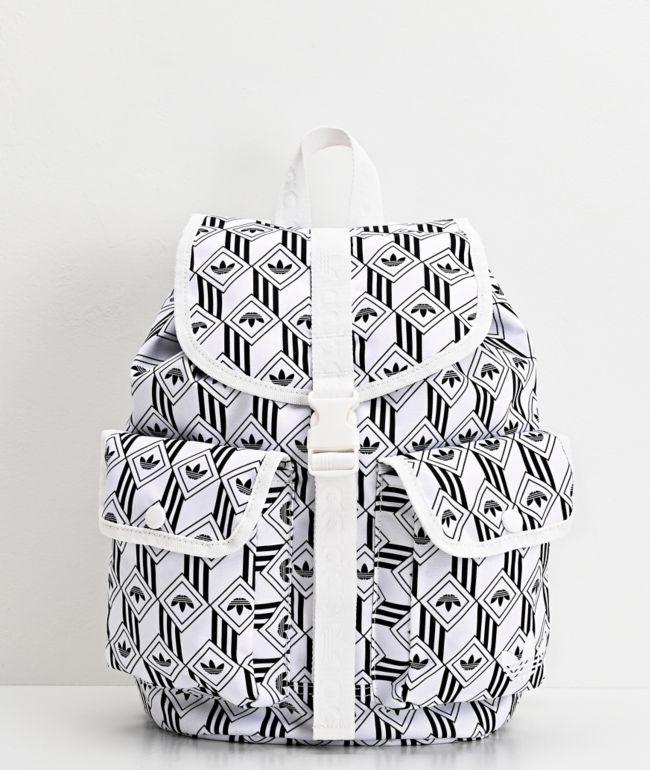 Descriptivo pivote Moral  adidas Originals Utility mini mochila blanca y negra | Zumiez