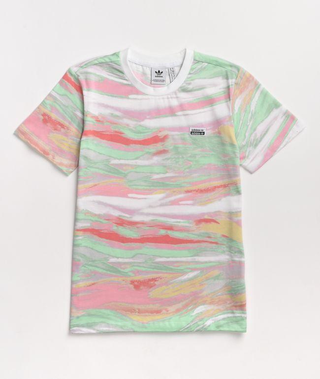 adidas R.Y.V. Marble Multi & White T-Shirt
