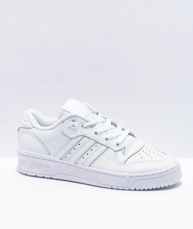 adidas Rivalry Low White Shoes | Zumiez