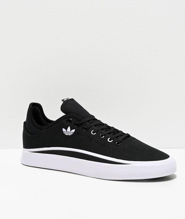 adidas Sabalo Black & White Canvas Shoes