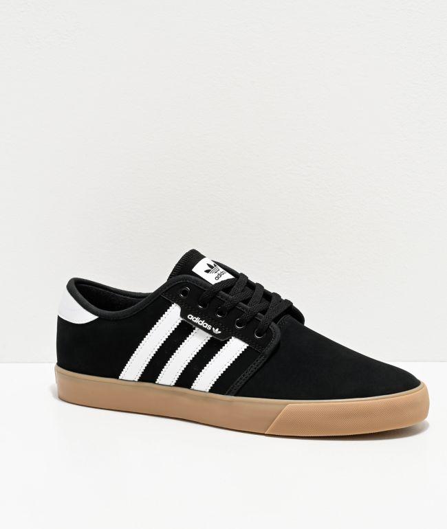 adidas Seeley Black, White & Gum Shoes