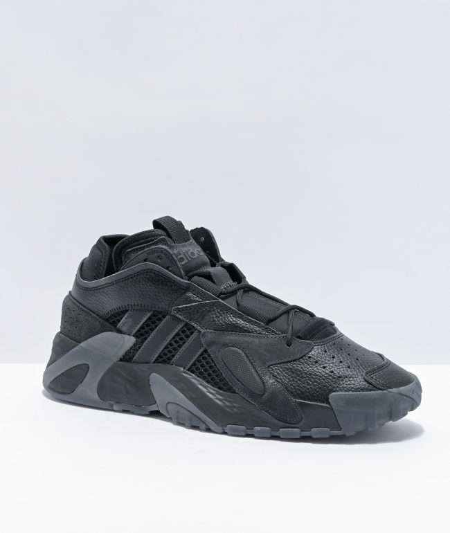 cocinero Unir marioneta  adidas Streetball zapatos negros y grises | Zumiez