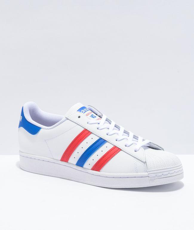 adidas Superstar Americana White, Blue