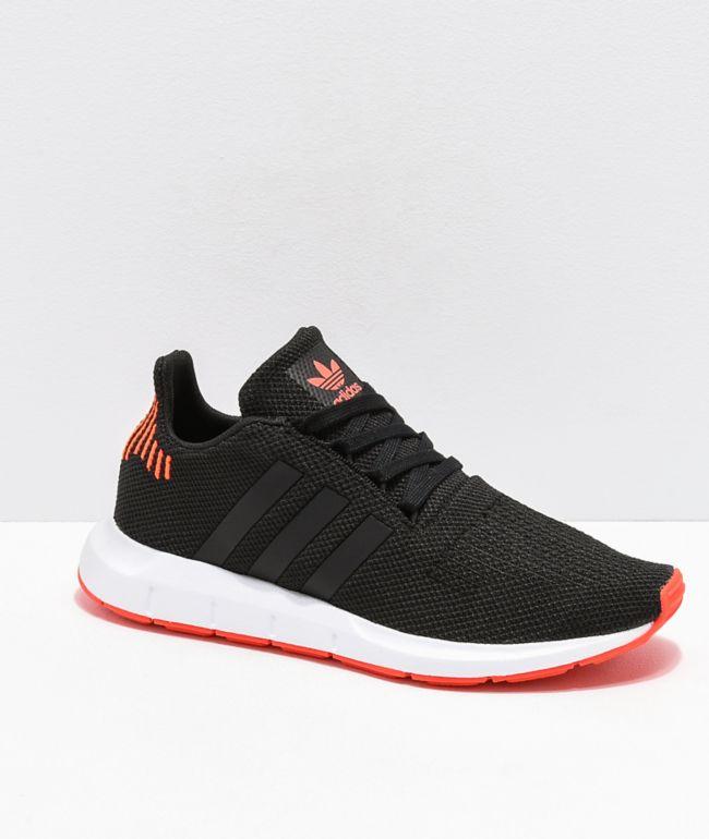 adidas Swift Run Black, Orange \u0026 White