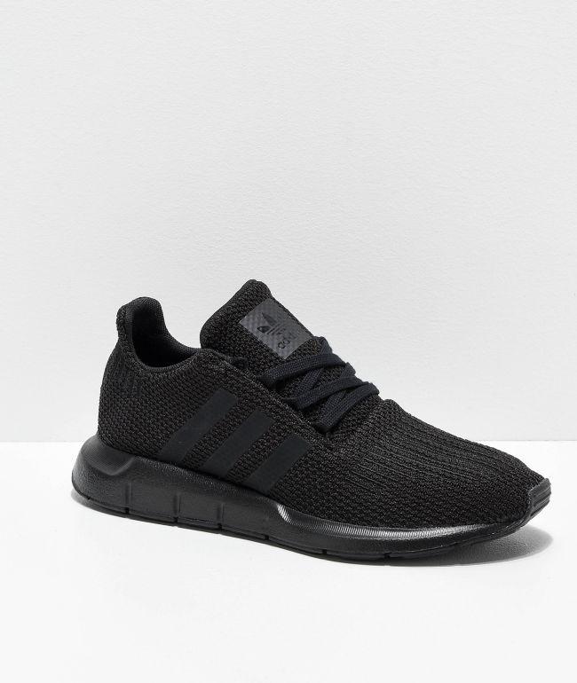 adidas Swift Run Black Shoes | Zumiez