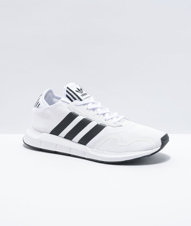 adidas Swift Run X White \u0026 Black Shoes
