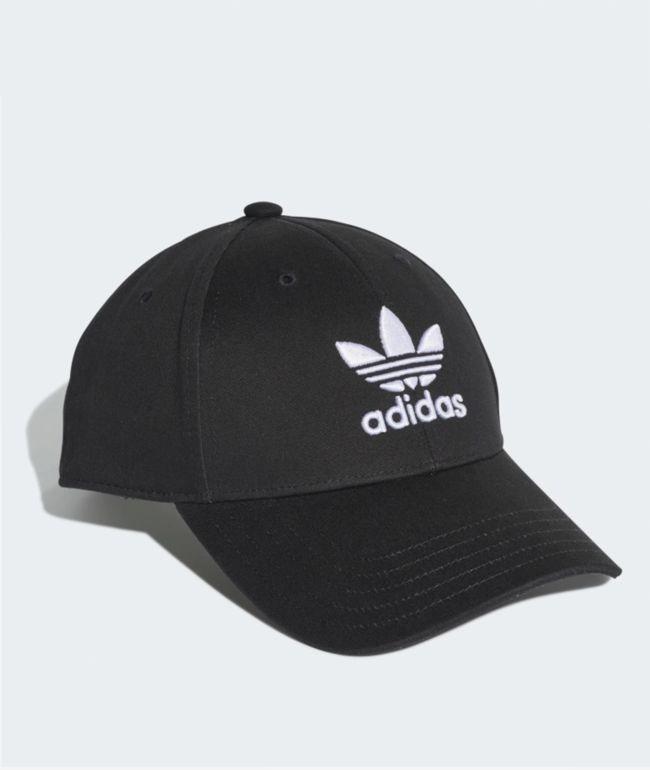 adidas Trefoil Black Strapback Hat