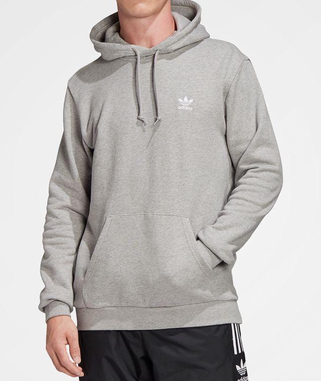 adidas Trefoil Essentials Grey Hoodie