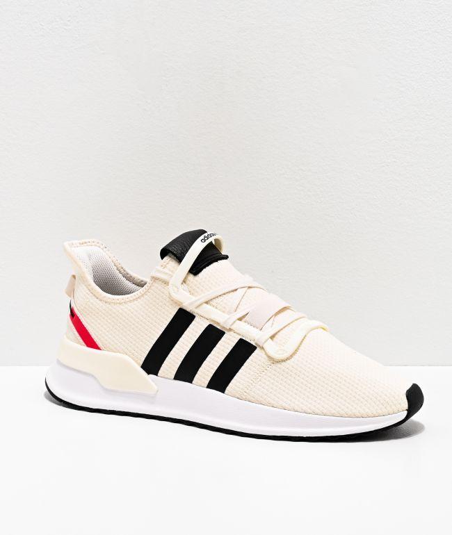adidas U Path Run White, Black & Red Shoes