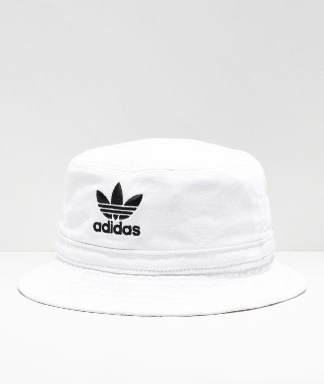 adidas Washed White Bucket Hat