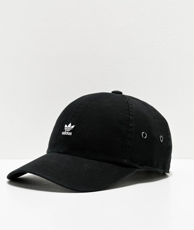 adidas Women's Originals Mini Logo Black Strapback Hat