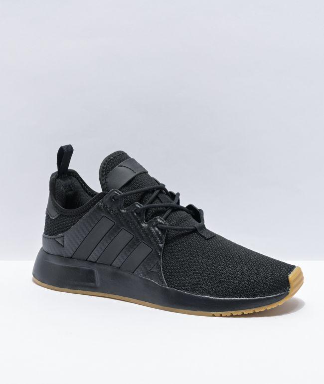 adidas X_PLR J Black & Gum Shoes
