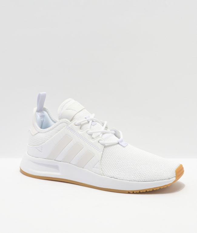 adidas X_PLR White & Gum Shoes