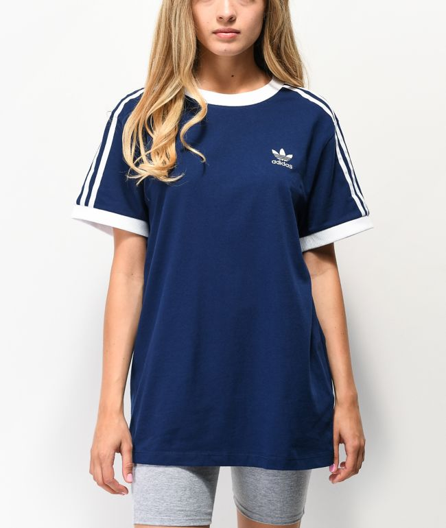 Precioso Encommium Humano  adidas camiseta azul oscuro de 3 rayas | Zumiez