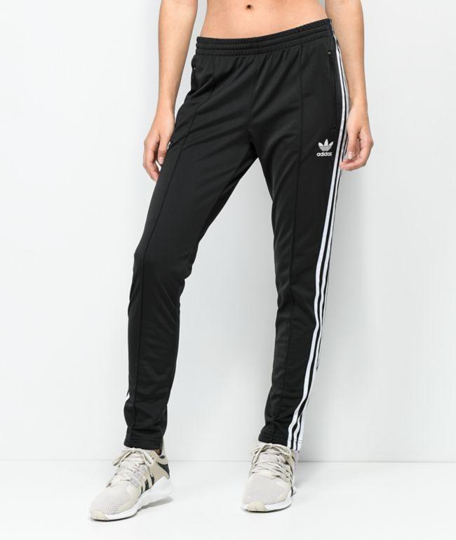 adidas pantalones de chándal negros con 3 rayas