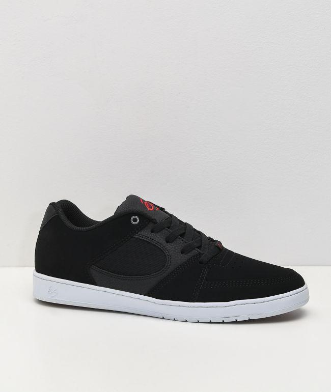 eS Accel Slim Black, White \u0026 Red Skate