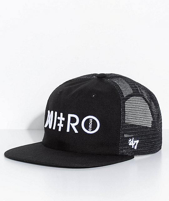 47 Nitro Circus Gravel Pit Black Snapback Hat | Zumiez