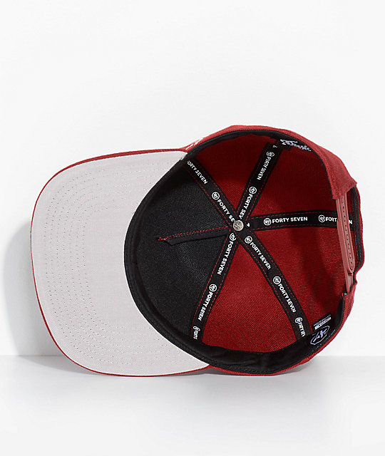 '47 Nitro Circus Patch Burgundy Snapback Hat