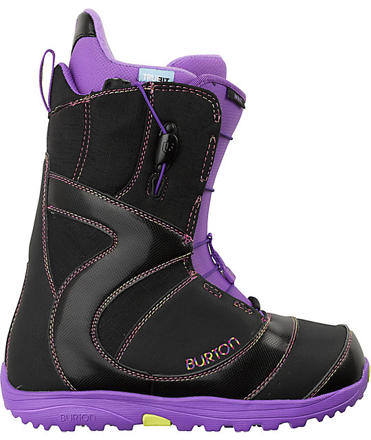 Burton Mint Black & Purple Womens Snowboard Boots