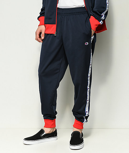 70ab6f89a637 Champion Tape Jogger Navy Track Pant