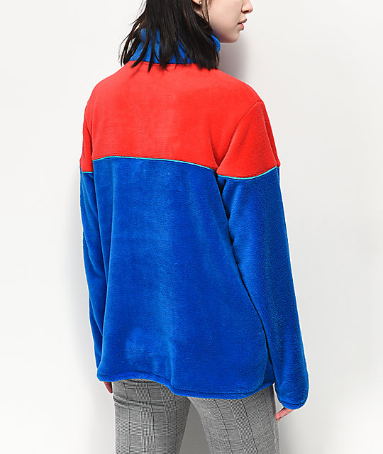 Odd Future Red & Blue Tech Fleece Jacket