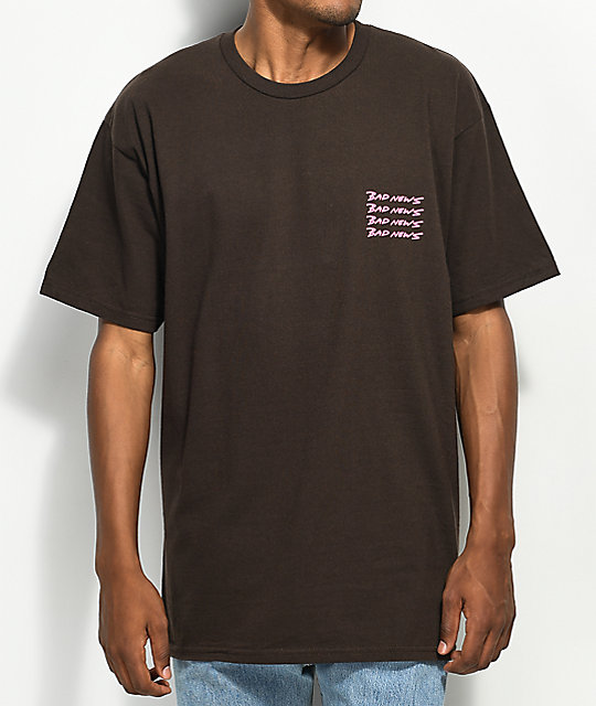 10 Deep Bad News Brown T-Shirt
