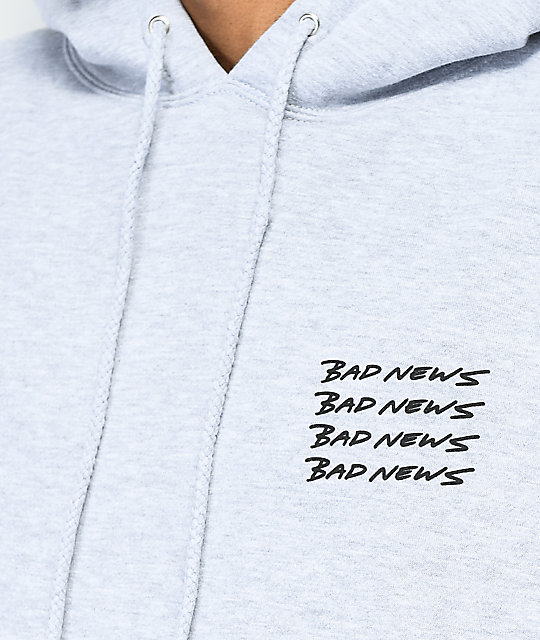 10 Deep Bad News Grey Hoodie