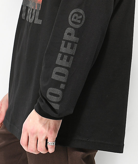 10 Deep Damage Control Black Long Sleeve T-Shirt