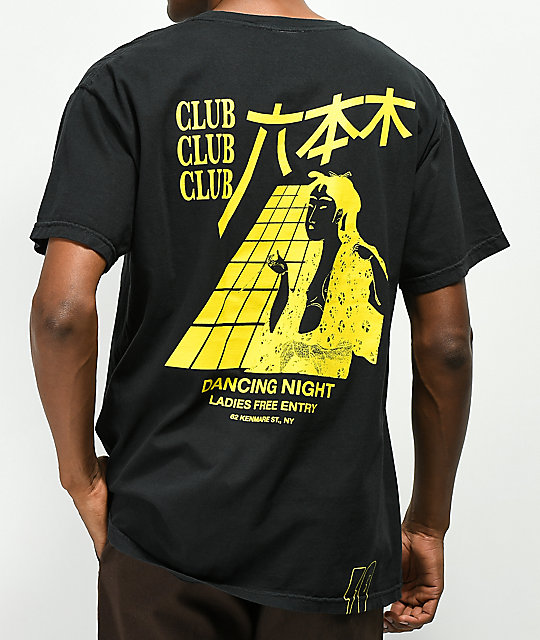 10 Deep Dancing Night Pocket Black T-Shirt