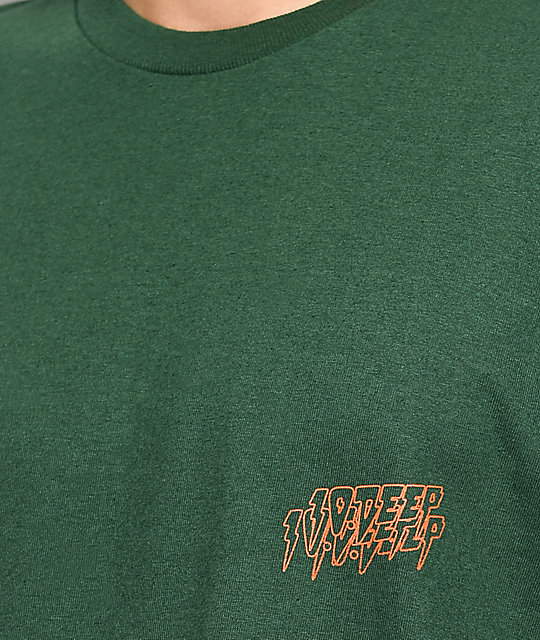 10 Deep Fade To Black Green T-Shirt