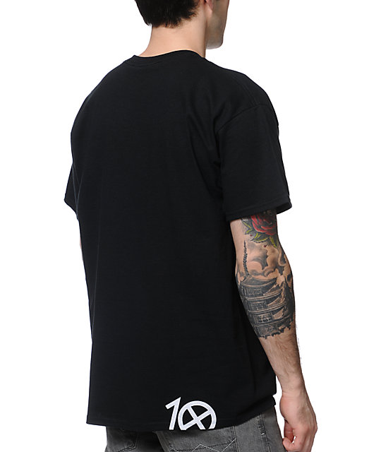 10 Deep Lights Out Black T-Shirt